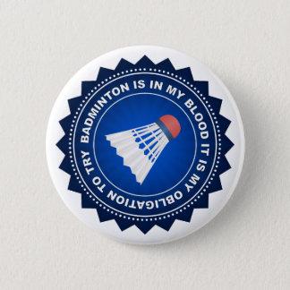 Badge Rond 5 Cm Bouclier fantastique de badminton