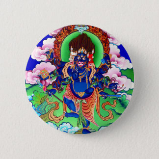 Badge Rond 5 Cm Bouddhisme tibétain Thangka bouddhiste Ucchusma