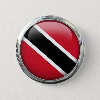 Badge Rond 5 Cm Boule en verre de drapeau du Trinidad-et-Tobago