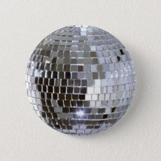 Badge Rond 5 Cm Boule reflétée 1 de disco