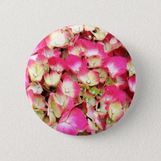 Badge Rond 5 Cm Bouquet rose d'hortensia