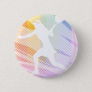 Badge Rond 5 Cm Bout femelle de joueur de tennis dessus