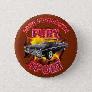 Badge Rond 5 Cm Bouton 1963 de sport de fureur de Plymouth