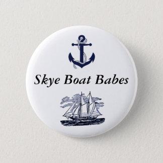 Badge Rond 5 Cm Bouton #2 de bébés de bateau de Skye