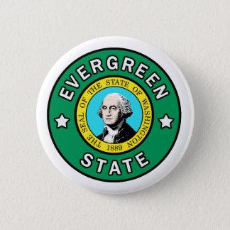 Badge Rond 5 Cm Bouton à feuillage persistant d'état de Washington