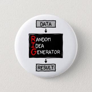 Badge Rond 5 Cm Bouton aléatoire de générateur d'idée (CALEZ les