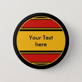 Badge Rond 5 Cm Bouton Allemagne de rayures de sports + votre