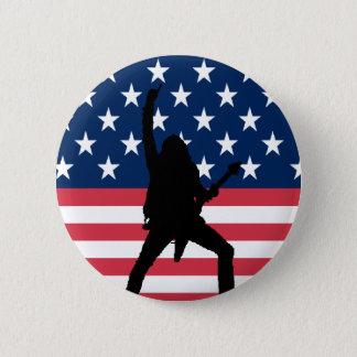 Badge Rond 5 Cm Bouton américain en métal