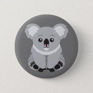 Badge Rond 5 Cm Bouton Animated d'ours de koala