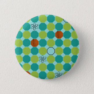 Badge Rond 5 Cm Bouton atomique d'octogones