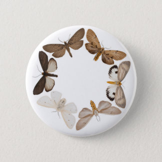 Badge Rond 5 Cm Bouton avec l'anneau de papillon