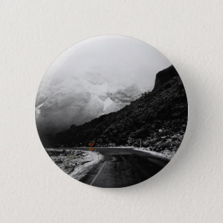 Badge Rond 5 Cm Bouton brumeux Pinback de paysage de route de