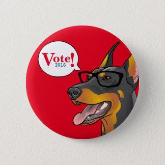 Badge Rond 5 Cm Bouton comique de dobermann de parodie de chien de