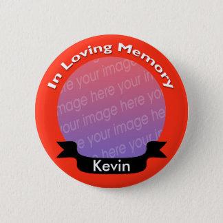 Badge Rond 5 Cm Bouton commémoratif rouge lumineux de photo avec