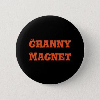Badge Rond 5 Cm Bouton d'aimant de mamie