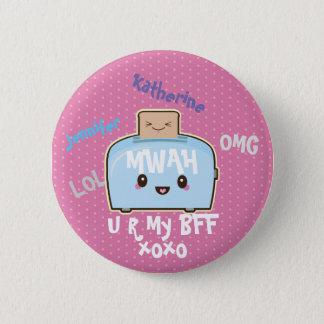 Badge Rond 5 Cm Bouton d'amitié personnalisé par BFF de Kawaii