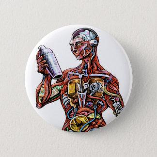 Badge Rond 5 Cm Bouton d'anatomie de barman