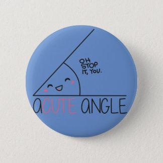 Badge Rond 5 Cm Bouton d'angle aigu