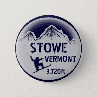 Badge Rond 5 Cm Bouton d'art de surf des neiges de bleu marine de