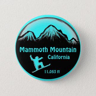 Badge Rond 5 Cm Bouton d'art de surf des neiges de Mammoth