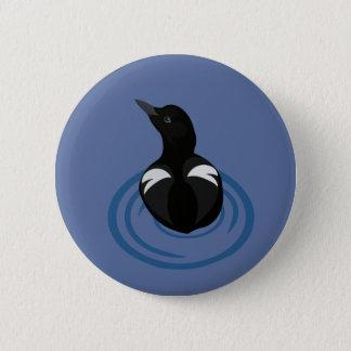 Badge Rond 5 Cm Bouton d'art de vecteur de guillemot de pigeon