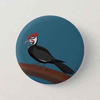 Badge Rond 5 Cm Bouton d'art de vecteur de pivert de Pileated