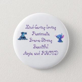 Badge Rond 5 Cm Bouton d'Aspie pour des femmes
