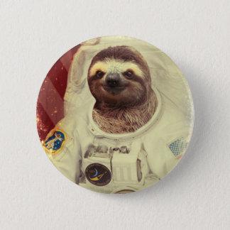 Badge Rond 5 Cm Bouton d'astronaute de paresse