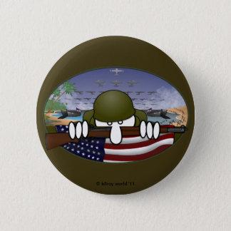 Badge Rond 5 Cm Bouton de base de Kilroy de la guerre mondiale 2