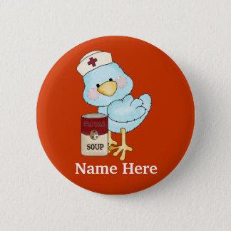 Badge Rond 5 Cm Bouton de birdie d'infirmière