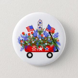 """Badge Rond 5 Cm Bouton """"de bouquet américain de chariot"""""""