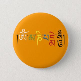 Badge Rond 5 Cm Bouton de bourdonnement de l'OM Mani Padme