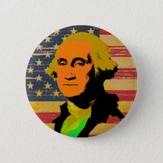 Badge Rond 5 Cm Bouton de Bruit-Art de drapeau américain de George