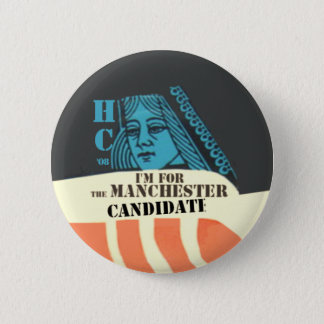 Badge Rond 5 Cm Bouton de CANDIDAT de Clinton MANCHESTER