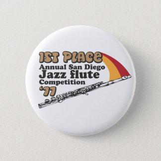 Badge Rond 5 Cm Bouton de cannelure de jazz