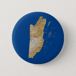 Badge Rond 5 Cm Bouton de carte de Belize