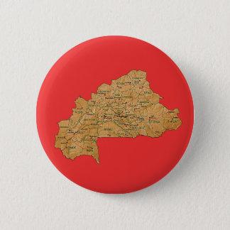 Badge Rond 5 Cm Bouton de carte de Burkina Faso