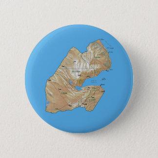 Badge Rond 5 Cm Bouton de carte de Djibouti