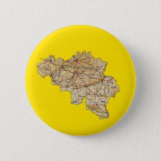Badge Rond 5 Cm Bouton de carte de la Belgique