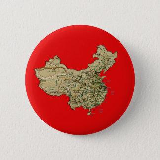 Badge Rond 5 Cm Bouton de carte de la Chine
