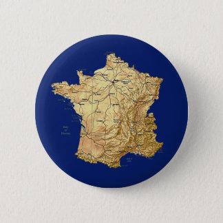 Badge Rond 5 Cm Bouton de carte de la France