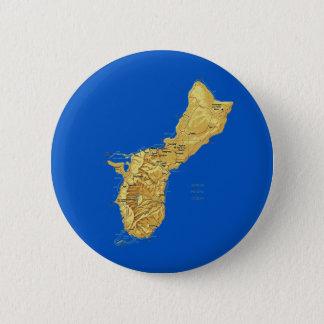 Badge Rond 5 Cm Bouton de carte de la Guam