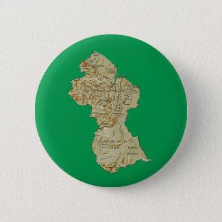 Badge Rond 5 Cm Bouton de carte de la Guyane