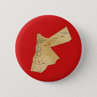 Badge Rond 5 Cm Bouton de carte de la Jordanie