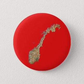 Badge Rond 5 Cm Bouton de carte de la Norvège