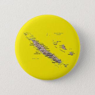Badge Rond 5 Cm Bouton de carte de la Nouvelle-Calédonie