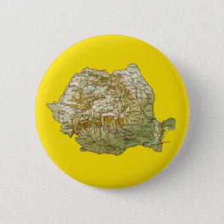 Badge Rond 5 Cm Bouton de carte de la Roumanie