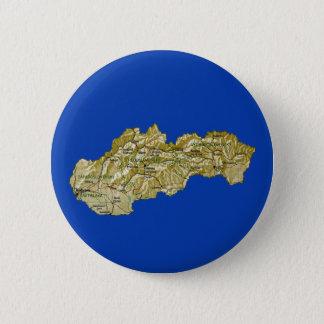 Badge Rond 5 Cm Bouton de carte de la Slovaquie