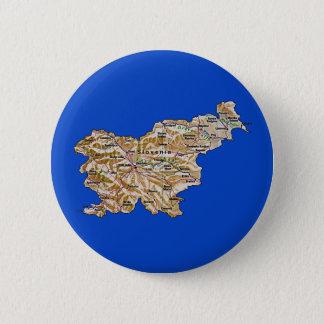 Badge Rond 5 Cm Bouton de carte de la Slovénie