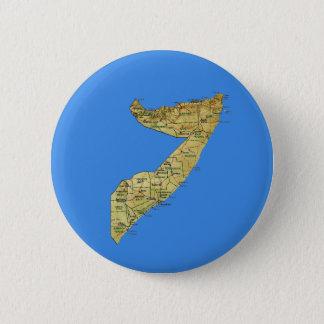 Badge Rond 5 Cm Bouton de carte de la Somalie